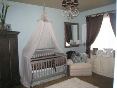 Blue and Brown Baby Nursery