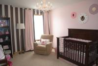Our Baby Girl's Pink and Brown Nursery