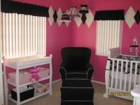 Tink Pink White and Black Baby Girl Nursery Decor