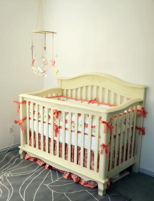 Peach And Ivory Baby Girl Nursery