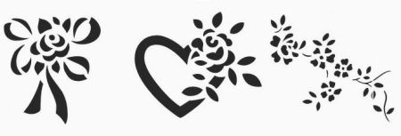 Free Rose Stencil Patterns that are Printable for Borders