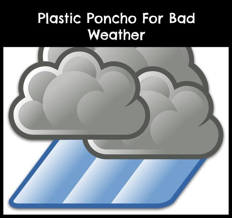 plastic rain poncho with hood