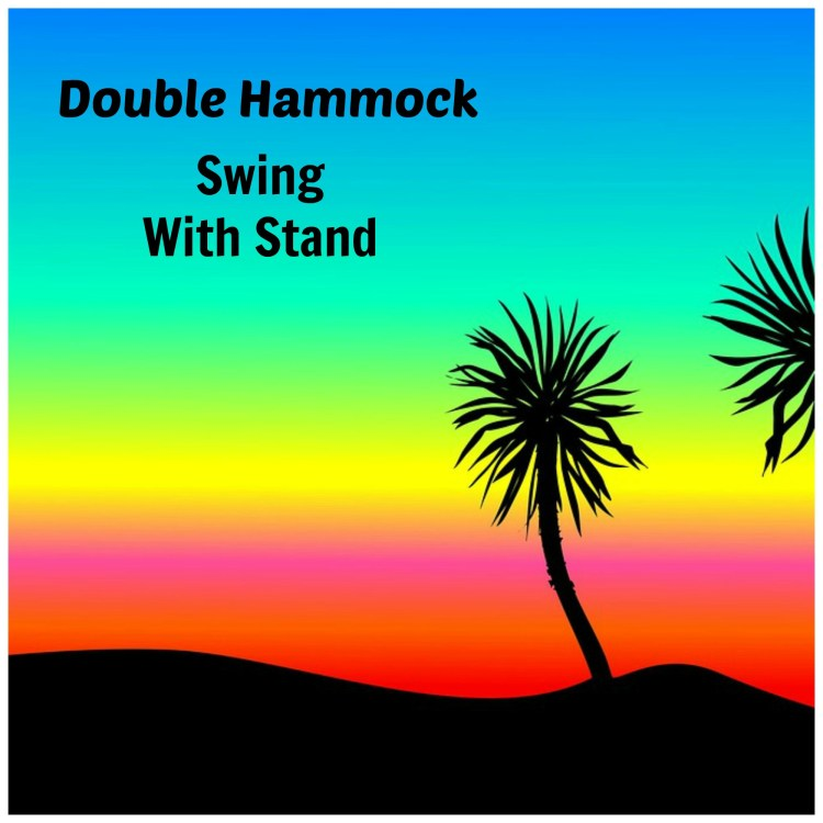double hammock swing with stand