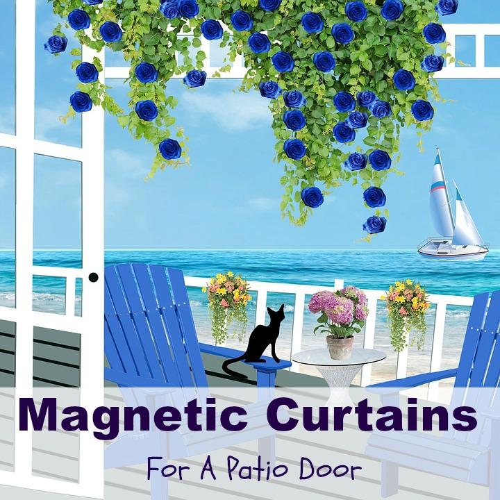 magnetic curtains for a patio door