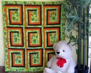 Truck Traffic - A handmade baby quilt