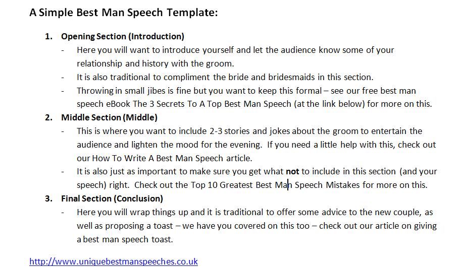 Best Man Speech Template Unique Best Man Speeches Latest Articles