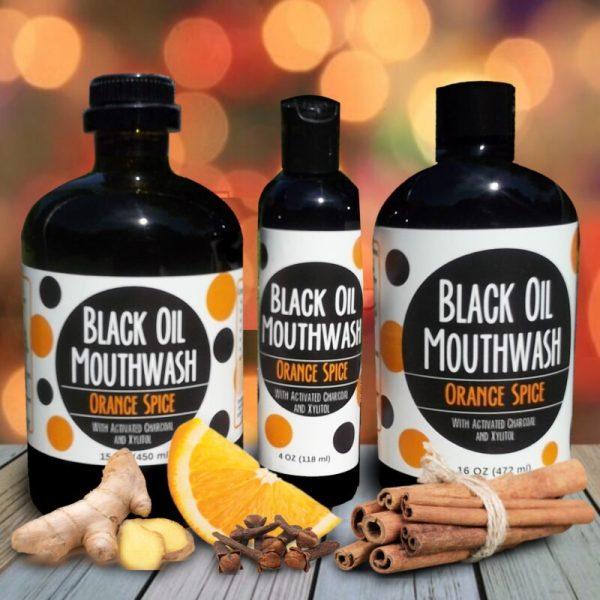 group orange Sănătate orală cu Black Oil Mouthwash/Oral health with Black Oil Mouthwash