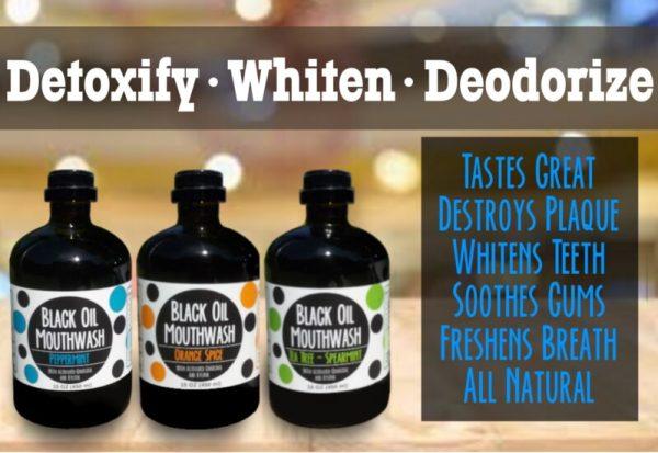trio 5 Sănătate orală cu Black Oil Mouthwash/Oral health with Black Oil Mouthwash