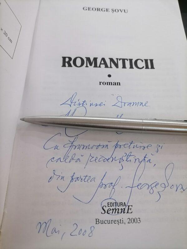Carte cu autograf scriitorul George Șovu