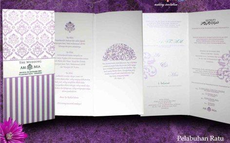 undangan pernikahan abi dan mia