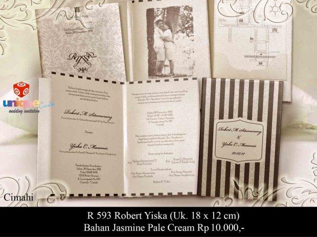 undangan pernikahan Robert Yiska