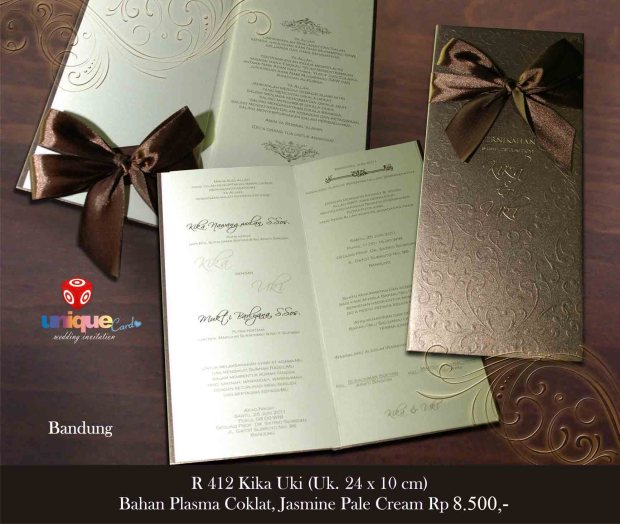 undangan pernikahan Kika Uki