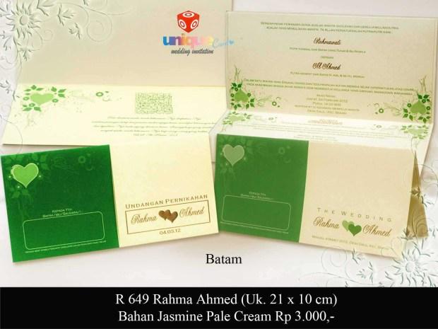 undangan pernikahan Rahma Ahmed