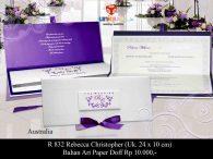 wedding invitation Rebecca - Christopher