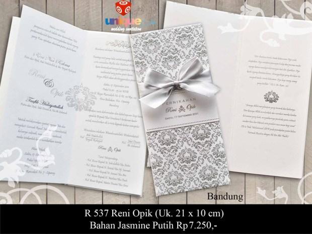 undangan pernikahan Reni - Opik