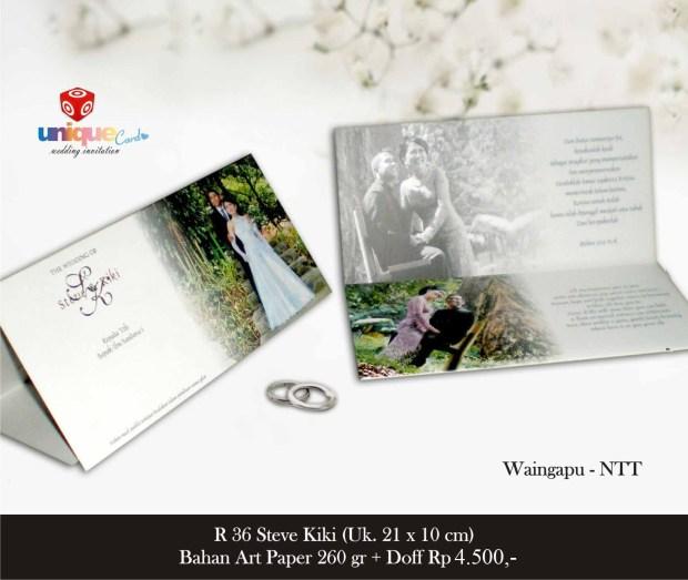 undangan pernikahan Steve Kiki
