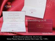 undangan perkawinan David Cynthia
