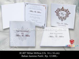 undangan perkawinan Milan Millica