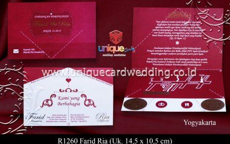 undangan unik dan murah Farid Ria