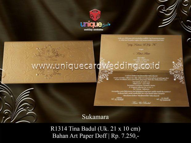 undangan perkawinan Tina Badul