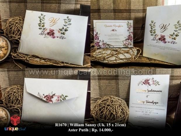 william sanny wedding invitation