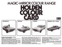 Holden HQ Colour Chart Brochure