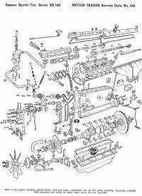 Jaguar XK140 Service Data Brochure