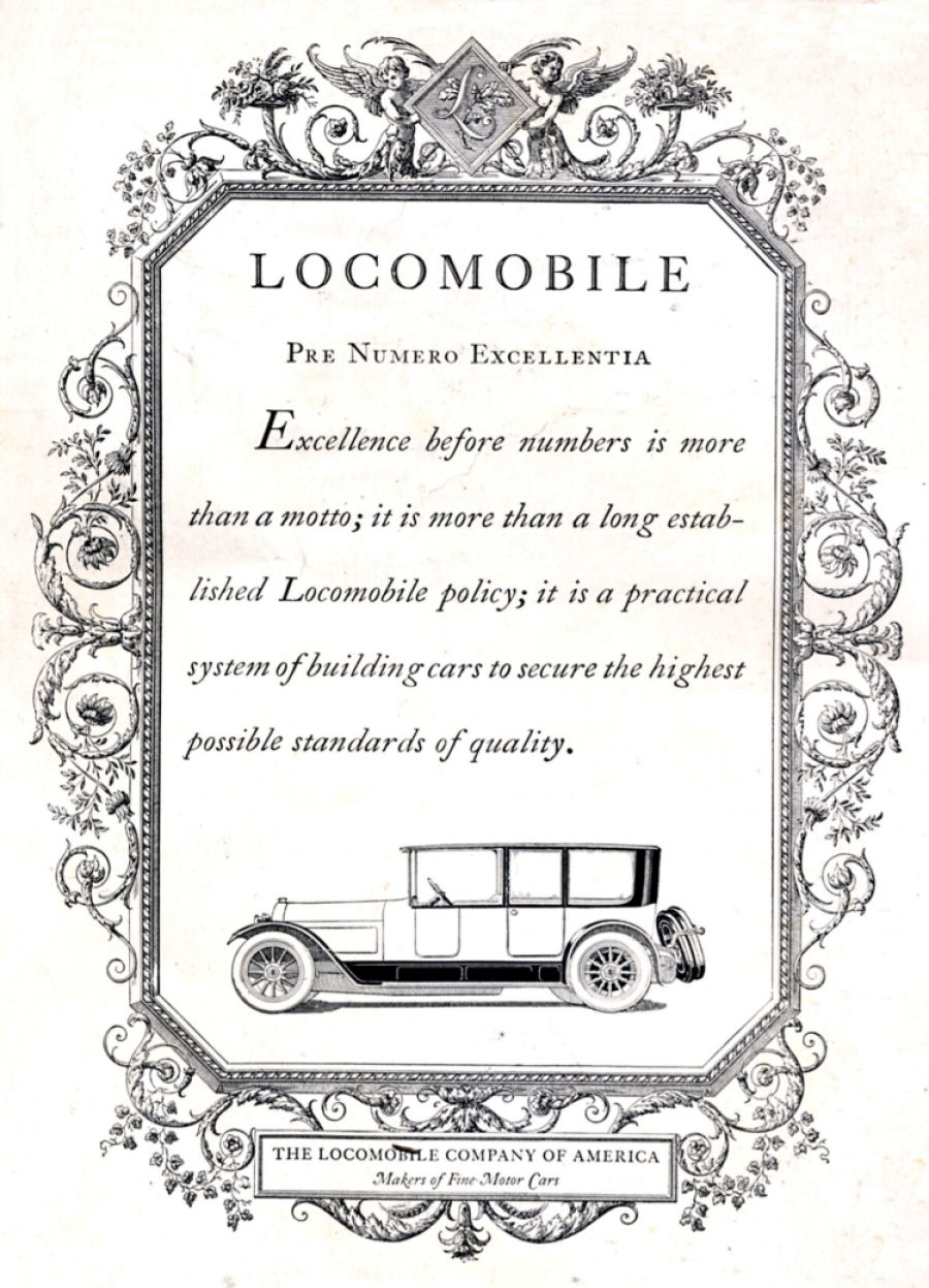 American Automobile Advertising published by Locomobile in
