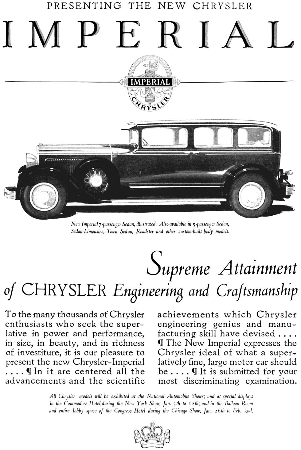 American Automobile Advertising published by Chrysler in 1929
