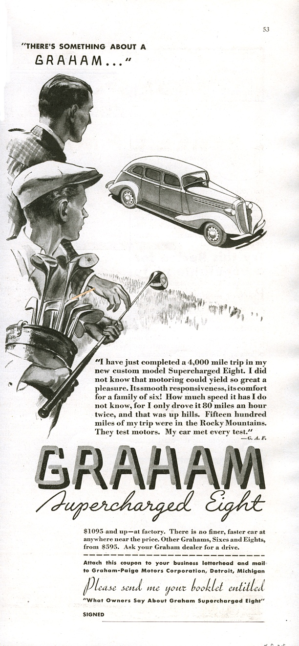 American Automobile Advertising published by Graham-Paige