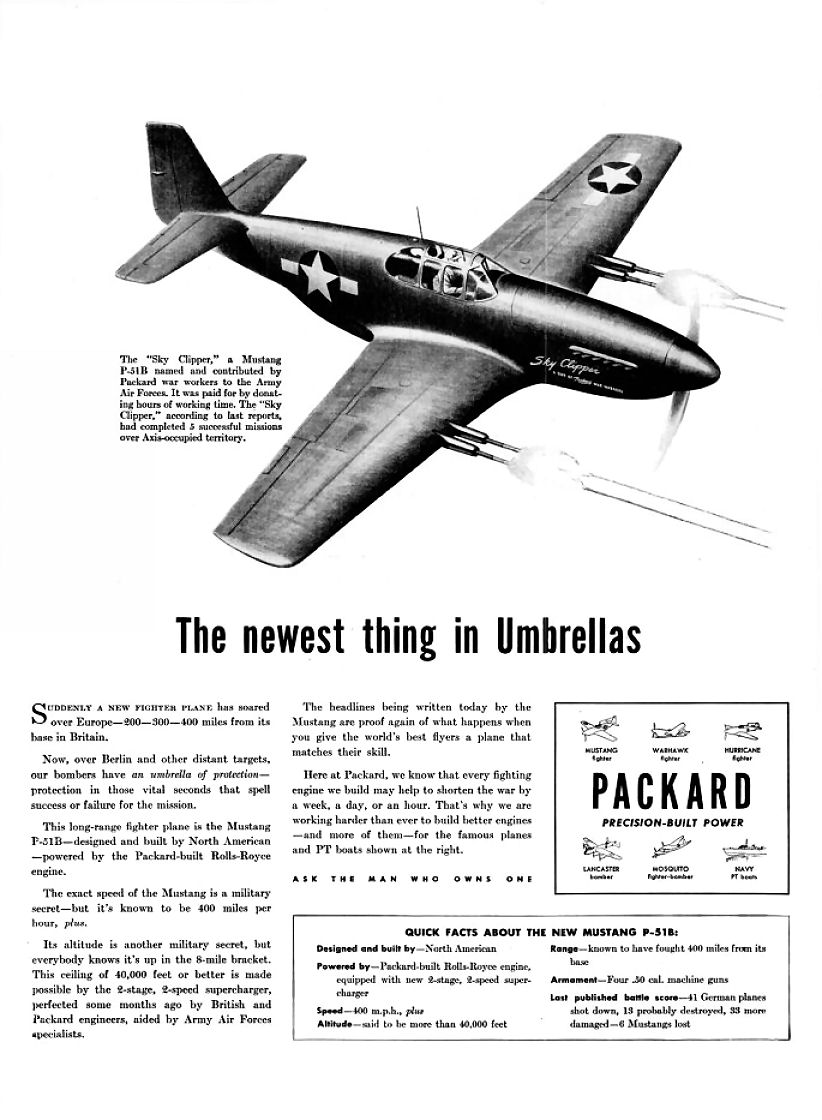 American Automobile Advertising published by Packard in 1942