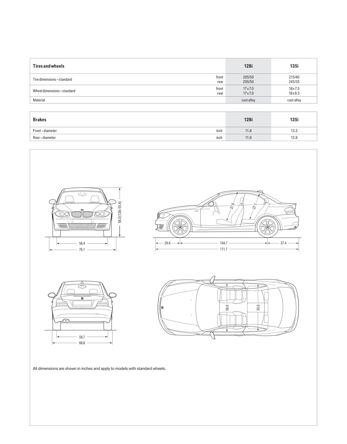 2008 BMW 1-Series Coupe Brochure
