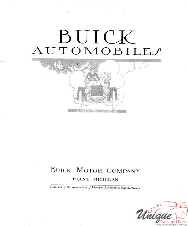 Buick Car Brochures from 1900 to 1930