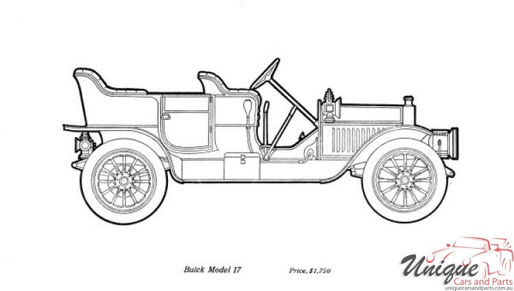 1910 Buick Specifications Brochure