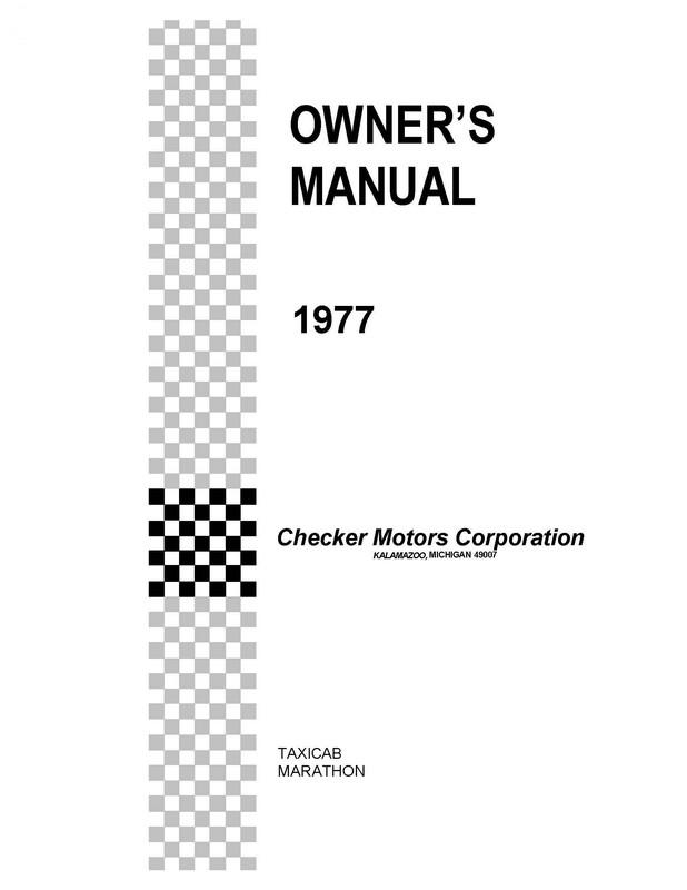 Checker Car Brochures