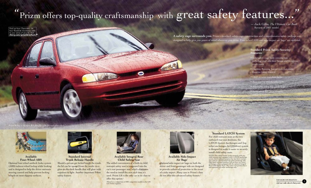 medium resolution of 2000 chevrolet prizm brochure page 3