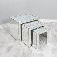 Venetian Mirrored Nest Of Tables   VENETIAN MIRROR