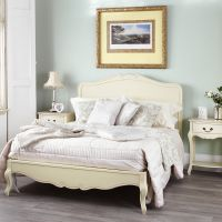 Rochelle Shabby Chic Champagne Painted 5ft King Size Bed ...