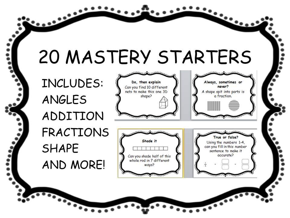 20 mastery maths starters