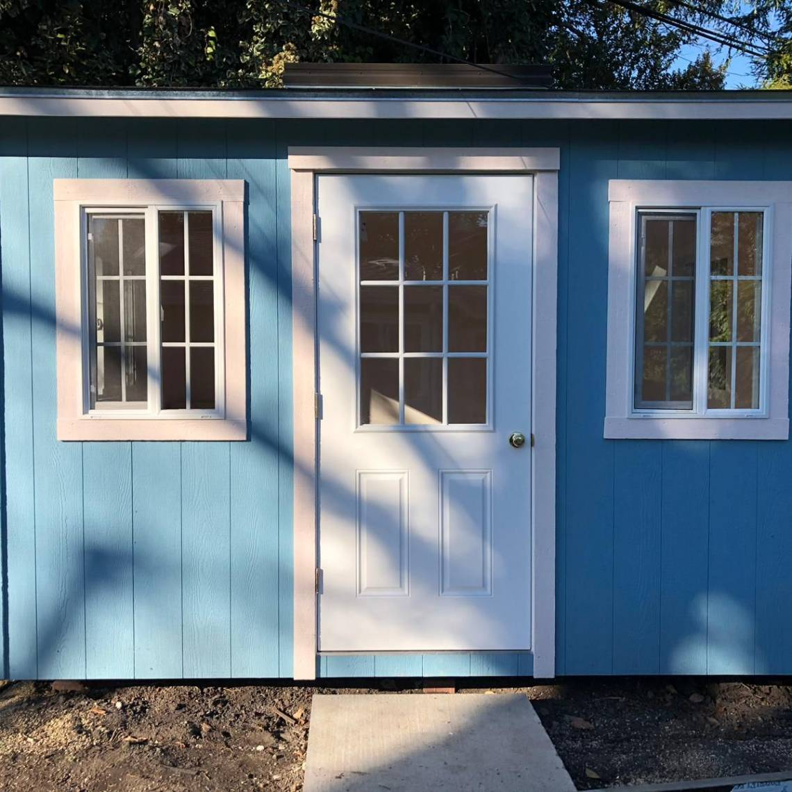 hight resolution of complete backyard shed construction with electrical wiring in palo alto