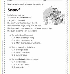 Familiar Story Main Idea Worksheets   Printable Worksheets and Activities  for Teachers [ 3279 x 2529 Pixel ]