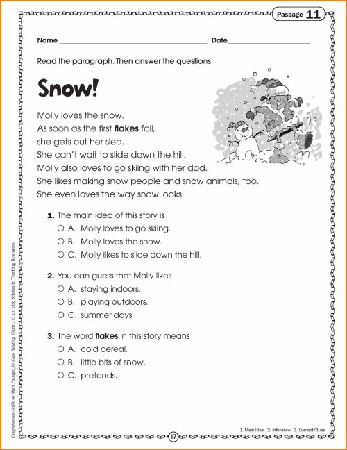 small resolution of 10 Unique Main Idea Worksheets 1St Grade 2021