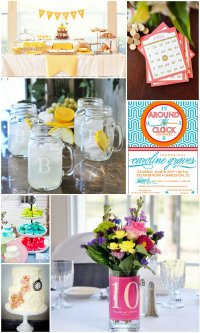 10 Cute Around The Clock Bridal Shower Ideas