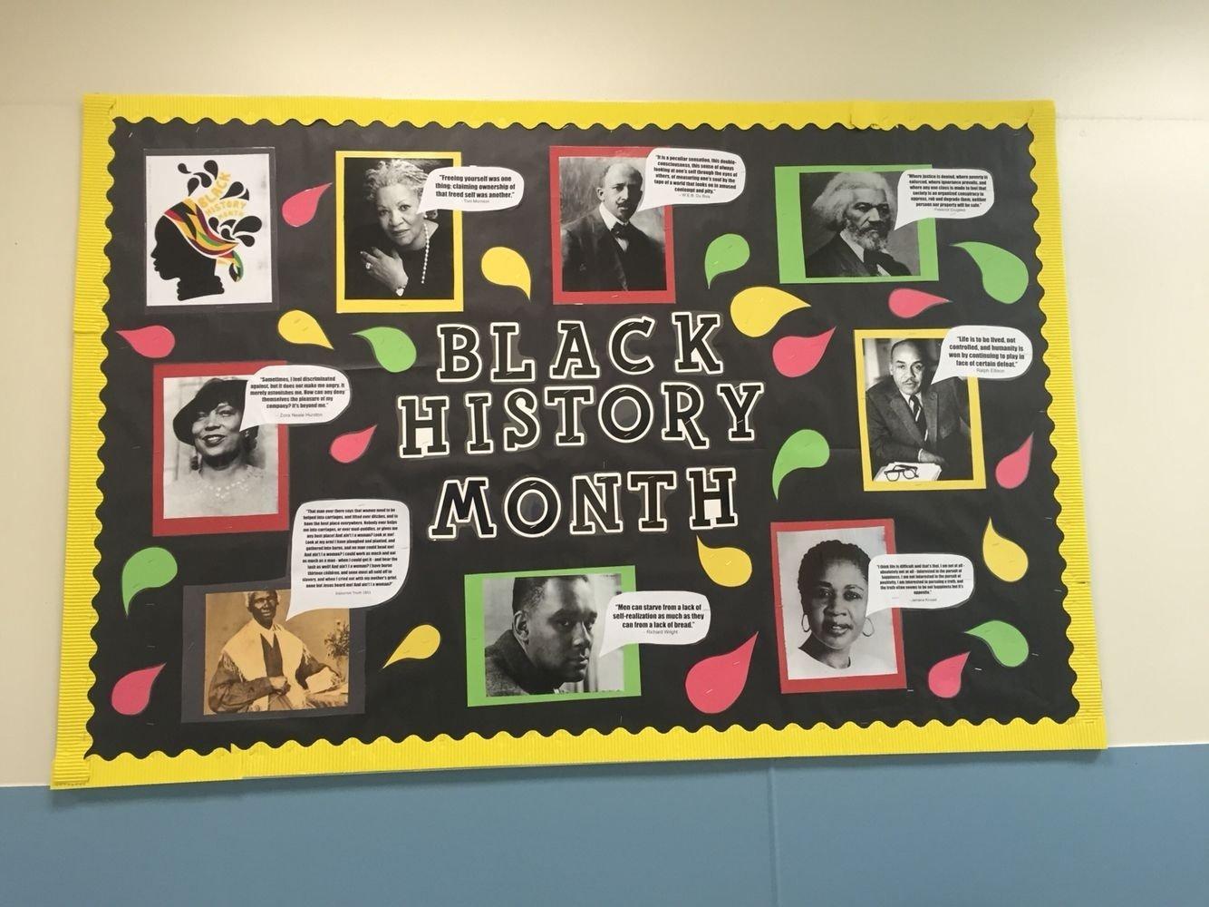 B Black History Month Bulletin Board Ideas
