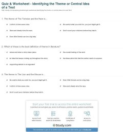 Main Idea Worksheets 6th Grade   Printable Worksheets and Activities for  Teachers [ 1350 x 1140 Pixel ]