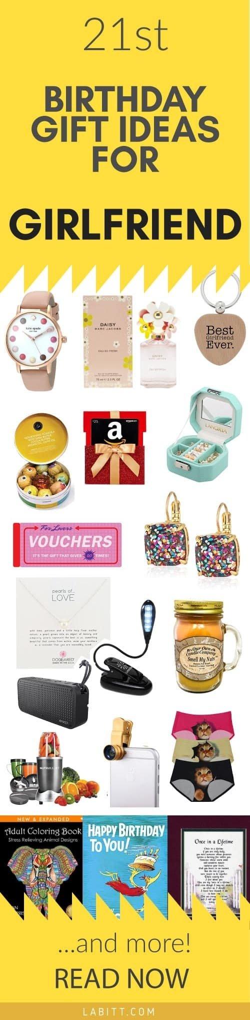 10 Attractive Birthday Present Ideas For Girlfriend Creative 21st Gift