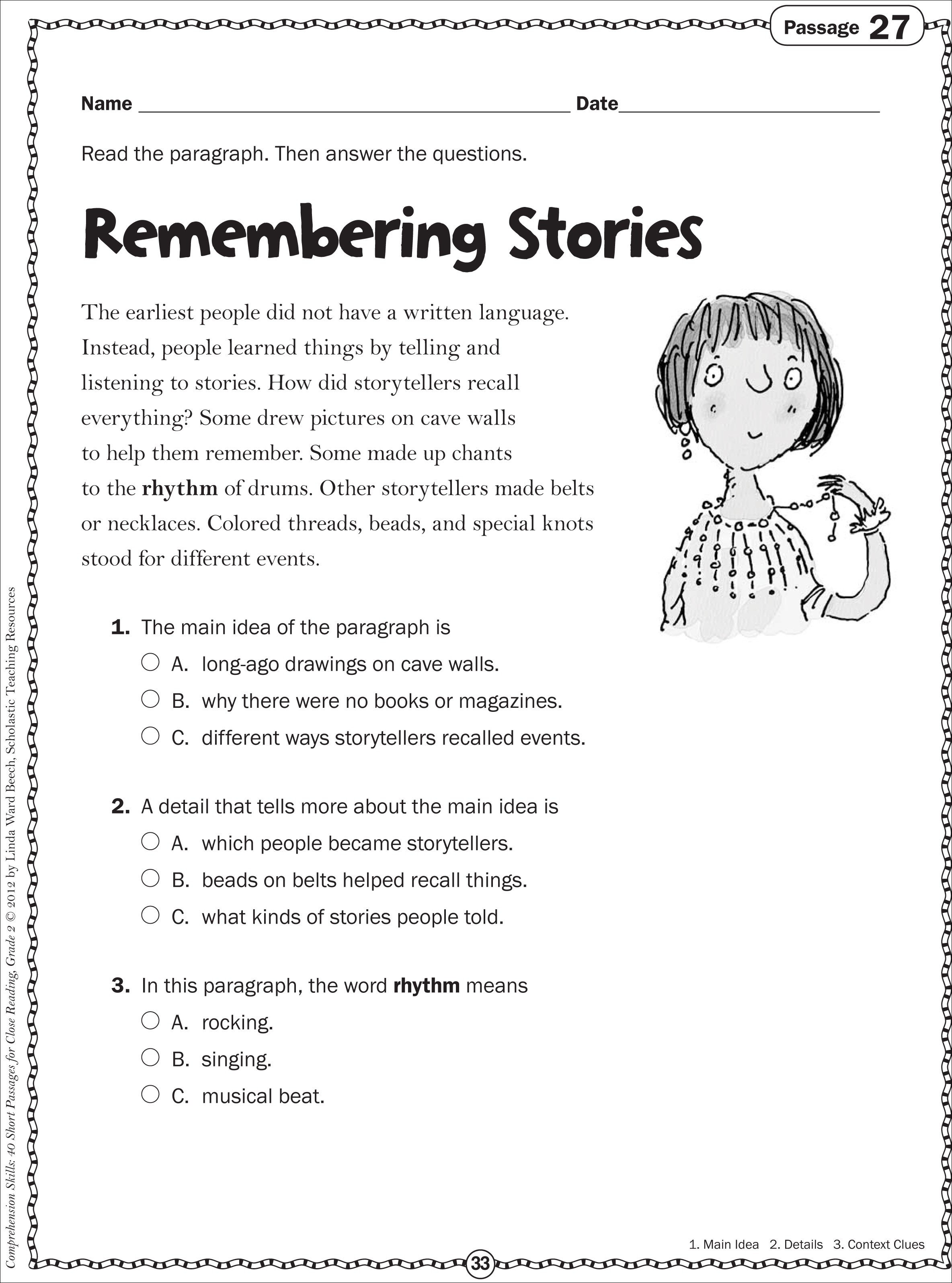 10 Trendy Main Idea Passages 5th Grade