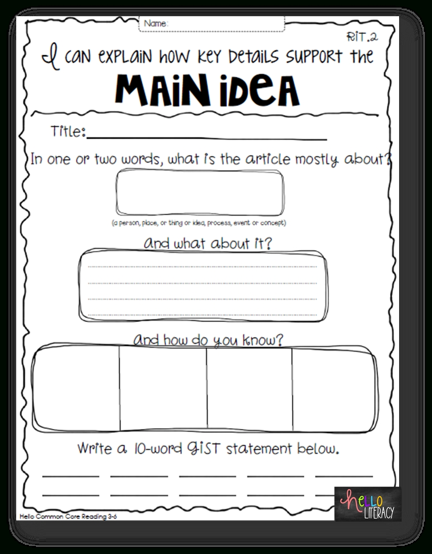 hight resolution of 10 Stylish Main Idea Worksheets For 2Nd Grade 2021