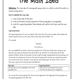 10 Attractive Main Idea And Details Worksheets 3Rd Grade 2021 [ 2200 x 1700 Pixel ]