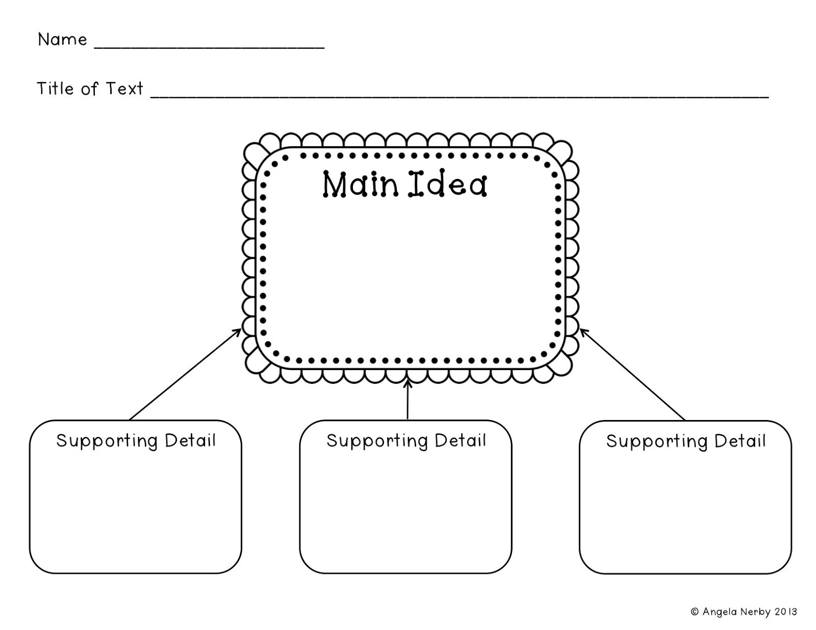10 Lovable Main Idea Supporting Details Graphic Organizer